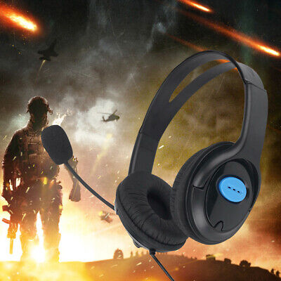 3.5mm Stereo Gaming Headset Headphones Earphone For PS4 Wired With Microphone • 8.99£
