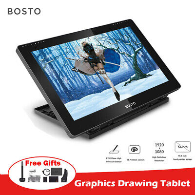 BOSTO Digital Graphics Drawing Tablet 15.6 In  Pen Tablet H-IPS With Stylus Pen • 161.40£
