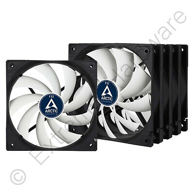 5 X Pack Arctic F12 Value Pack Standard 120mm Case Fans 1350 RPM 3-Pin • 21.90£