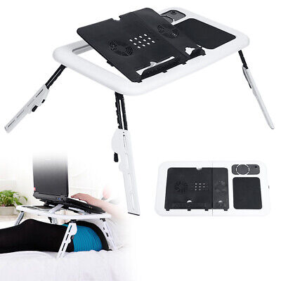 Folding Laptop Desk Adjustable Computer Table Stand Tray Bed Sofa Leisure Table • 26.99£
