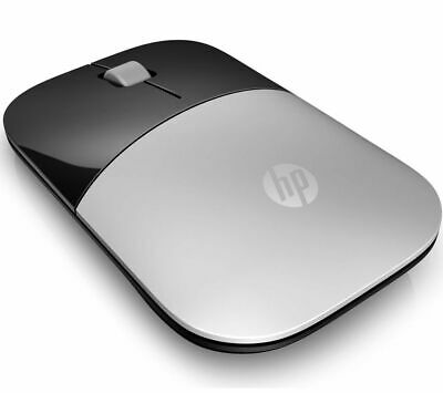 HP Z3700 Wireless Optical Mouse AA Battery Scroll Wheel 2 Button Silver - Currys • 14.99£