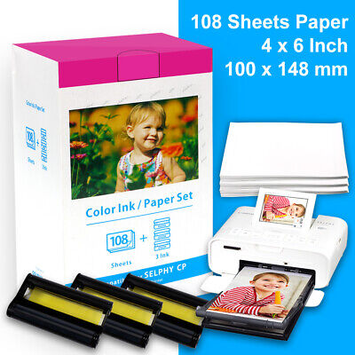 Canon KP-108IN Ink Cartridge 4 X6  Photo Paper Pack For Selphy CP-910 CP1300 Lot • 24.92£