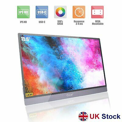 15.6  Portable Monitor Ultra-Thin IPS HDR Gaming Screen HDMI HD 1920x1080P • 140.99£