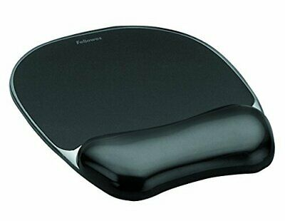 Fellowes Crystals Gel Mouse Mat With Wrist Support, Black • 10.70£