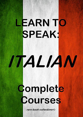 Learn To Speak Italian - Language Course - 8 Books & 37 Hrs Audio Mp3 All On Dvd • 2.99£