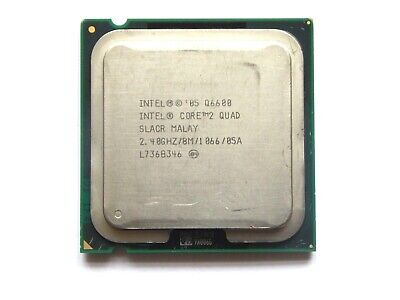 Q6600 - INTEL CORE 2 QUAD SLACR | 2.40Hz | 8MB | 4Core | 1066MH | LGA775 TESTED  • 6.49£