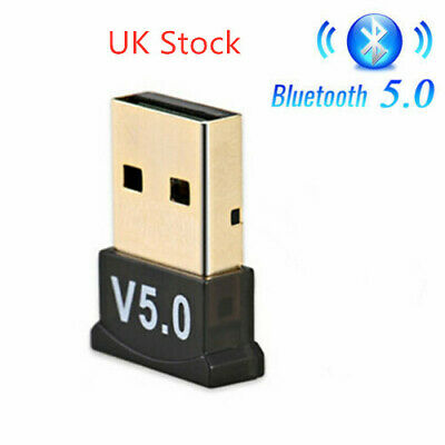 USB Bluetooth 5.0 Adapter For PC Laptop Long Range Receiver For Windows 10/8/7/X • 4.98£