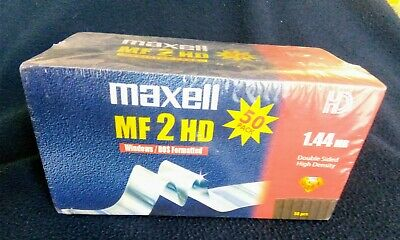 Maxell MF 2 HD 1.44mb Windows DOS Formatted Sealed Box Of 50. • 20£