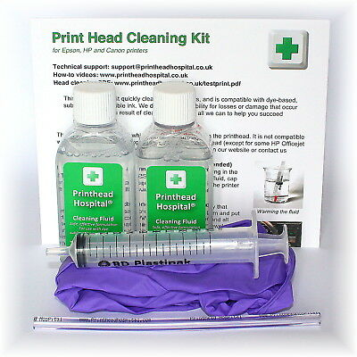 Epson Print Head Cleaning Kit. Unblocks Printer Nozzles 100ml Cleaner • 12.50£