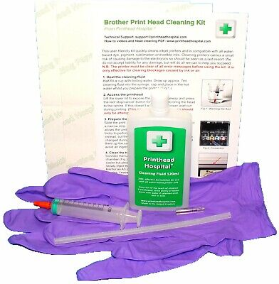 Printer Head Cleaning Kit Unblocks Brother MFC DCP Inkjet Nozzles 100ml Cleaner  • 12.50£