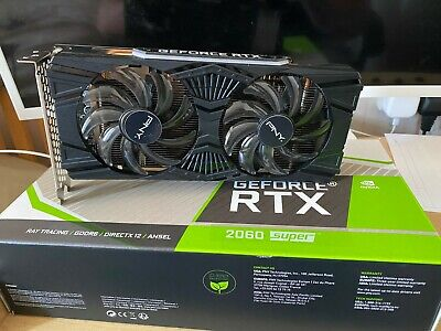 PNY GeForce RTX 2060 SUPER Dual Fan 8GB GDDR6 Ray-Tracing Graphics Card, 2176 Co • 210£