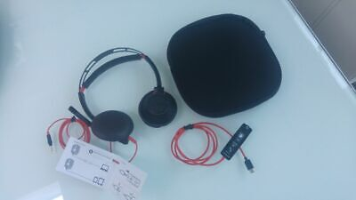 Used- Plantronics Blackwire 5220  Stereo Usb-a/c Headset - Black Red Cable • 13.55£