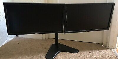 """Twin DELL P2211HT 22"""" WIDESCREEN LCD MONITORS With Stand • 94.99£"""