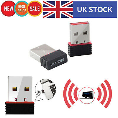 802.11N USB Wifi Adapter Wireless Dongle LAN Network Mini With 150Mbps Speed • 3.18£