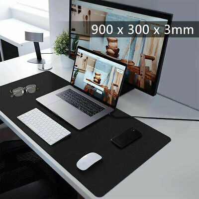 90CM X 30CM EXTRA LARGE XL GAMING MOUSE PAD MAT FOR PC LAPTOP MACBOOK ANTI-SLIP • 6.65£