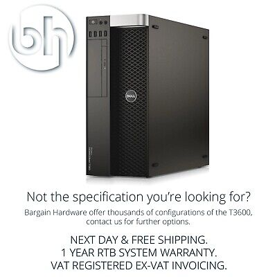 Dell Precision T3600 Eight 8-Core Xeon Workstation Quadro GFX 32GB RAM Tower • 280.45£