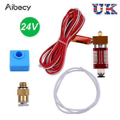 24V 3D Printer Hotend Extruder With 0.4mm Nozzle Heating Block For Ender 3 Q5W0 • 8.79£