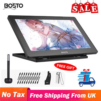 BOSTO Art Graphics Drawing Tablet LCD Board Pad 15.6 Inch USB With Stylus Pen • 146.99£