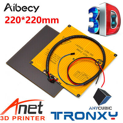 220*220mm 3D Printer Heat Hot Bed Sticker Platform Build Plate With Cord R7O6 • 14.29£