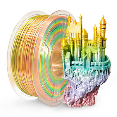 SUNLU 3D PLA+ SILK Rainbow Printer Filament 1.75mm 1kg New Arrival Non-toxic • 19.49£