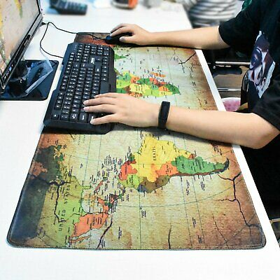 Extra Large XXL Gaming Mouse Pad Desk Mat For PC Laptop 90cm*40cm Earth Map • 9.39£
