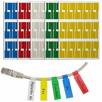 150Pcs Self-Adhesive Cable Labels Wire Marker Tag Stickers Cord Identification • 3.59£