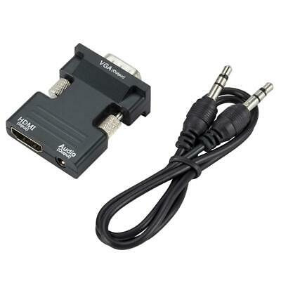 HDMI Female To VGA Male Converter Adapter+Audio Output For HTCP HDTV PS3 LAPTOP • 3.48£