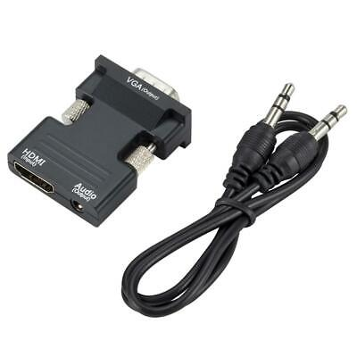HDMI Female To VGA Male Converter Adaptor+Audio Output For HTCP HDTV PS3 LAPTOP • 3.36£