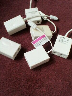 *new* 13 Adsl Filters, Sockets & Telephone Adapters **mixed Lot** • 12.50£