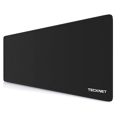 TECKNET Extended Gaming Mouse Pad Mat Extra Large 900 X 400mm Non-slip Black • 7.99£
