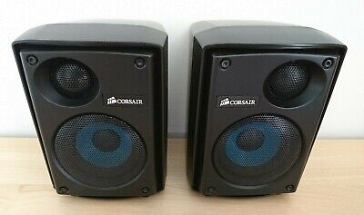 Corsair SP2500 Left & Right Speaker + Cable - Good Condition - Free UK Post • 39.99£
