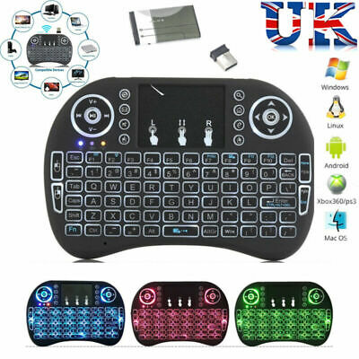 Wireless Mini Keyboard Rii I8 Air Mouse Keypad Remote Control Android TV Box • 7.49£