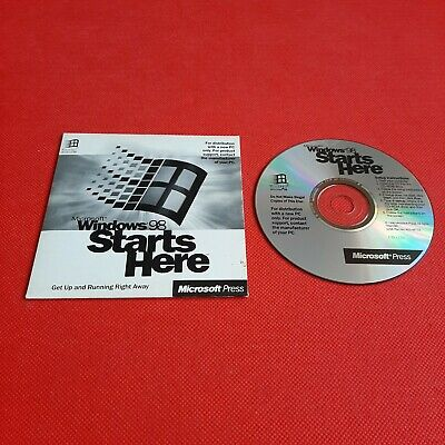 PC CD  - Microsoft Windows 98 Starts Here  • 4.99£