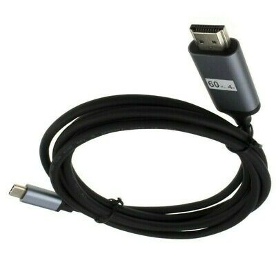 Type C To HDMI  Cable Adapter  HDTV 4k 60hz For S8 S9 S10 S20 & + Note8/9/10/10+ • 12.99£