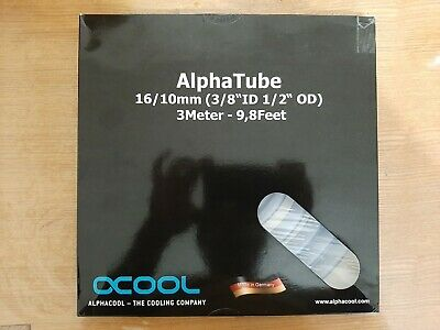 Alphacool AlphaTube 16/10mm - Clear 3m Soft Tubing • 12£