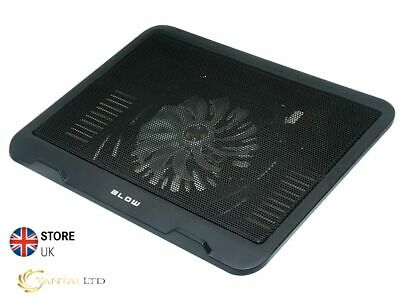 HQ USB LAPTOP NOTEBOOK COOLER COOLING PAD Black 1 BIG FAN 14cm BLOW HighQuality • 6.99£