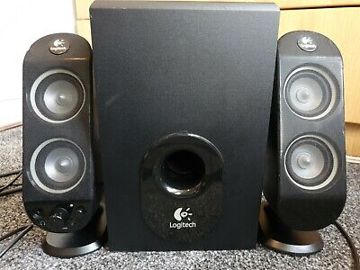Logitech X-230 2.1 Surround PC Computer Phone Stereo Speakers And Subwoofer 32W • 17£