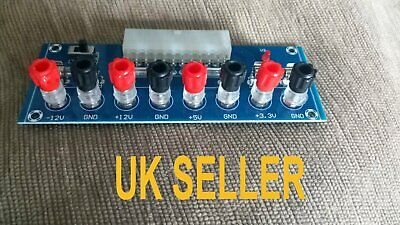 UK SELLER 20/24Pin ATX Benchtop Board PC Power Supply Breakout Adapter Module CE • 7.95£