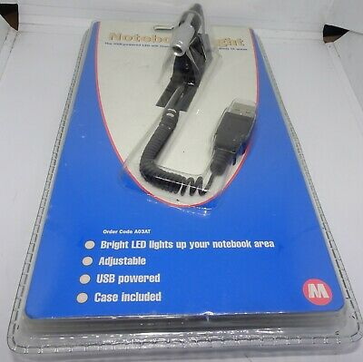 USB Notebook Light - A03AT - Brand New Old Stock • 8.50£