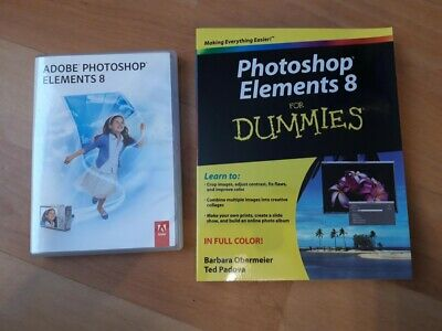 Adobe Photoshop Elements 8 For PC & Photoshop Elements 8 For Dummies Book • 4.99£