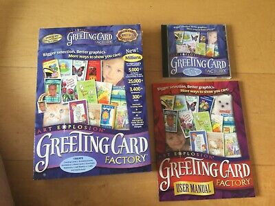 Art Explosion Greeting Card Factory. 2 CD Pack. Good Condition • 13.50£