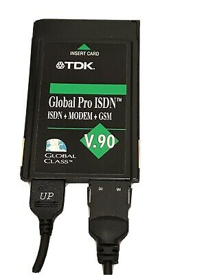 TDK GLOBAL PRO ISDN Modem GSM V.90 Incl ISDN And Modem Cable & Adapter • 19.99£