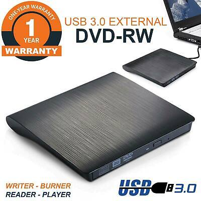 USB 3.0 External CD DVD RW Drive Writer Burner Reader For Dell HP Toshiba Laptop • 16.99£