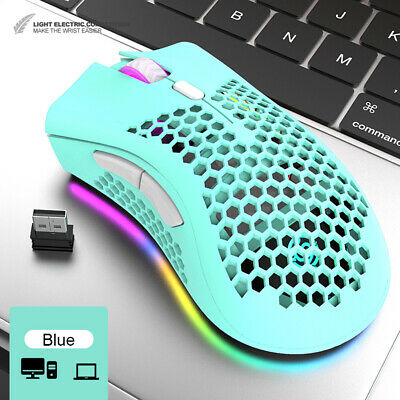 Lightweight Gaming Mouse RGB Backlit 16000 DPI Honeycomb Shell Mouse For PC PS4 • 15.39£