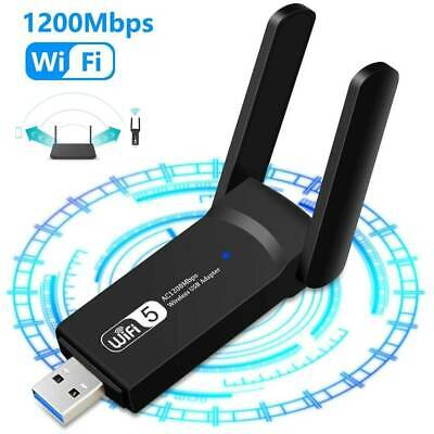 1200Mbps WiFi Dongle Wireless Adapter USB 3.0 Dual Band Fast Antenna Laptop PC • 9.87£