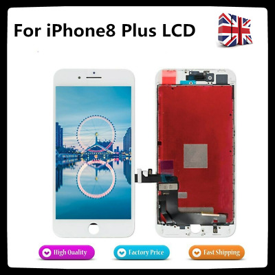 For IPhone 8 Plus LCD 3D Touch Screen Display Digitizer Replacement  White • 13.89£