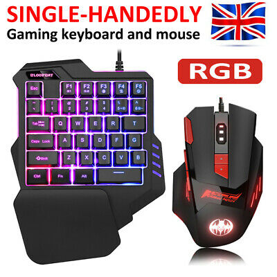 Keyboard Mouse Set Anti-slip Wheel USB Adapter For PC PS4 Xbox One 360 Gaming UK • 12.99£