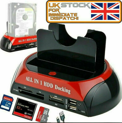"""All In One HDD Docking Station HDD 2.5/3.5"""" SATA/IDE Hard Drive Docking Station • 19.99£"""