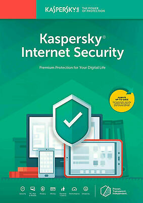 Kaspersky Internet Security 2020 1PC, 3PC, 5PC - 1Year / 2Year Antivirus • 8.50£
