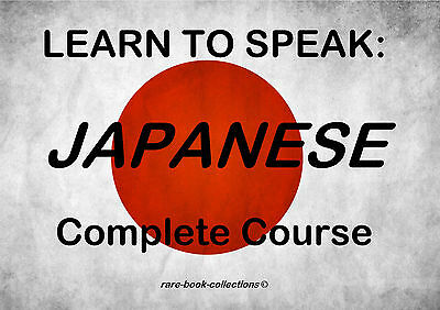 Learn Japanese - Spoken Language Course - 4 Books & 10 Hrs Audio Mp3 All On Dvd • 2.99£